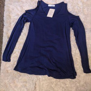 Heather Cold Shoulder Tunic